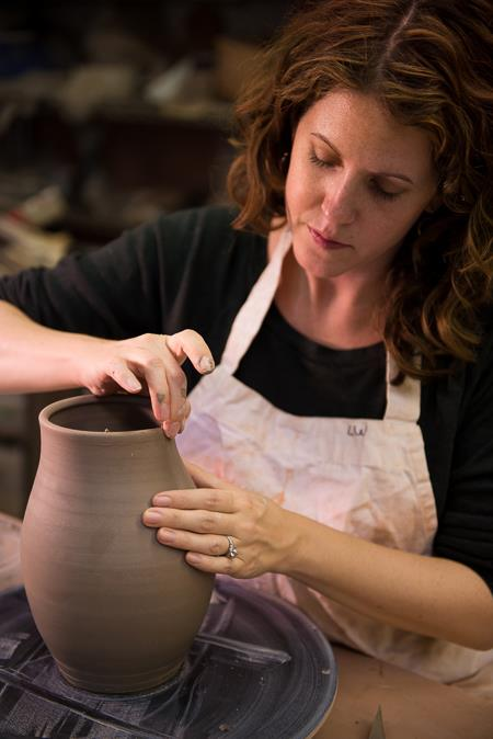 Christine Abelman at Chambers Pottery